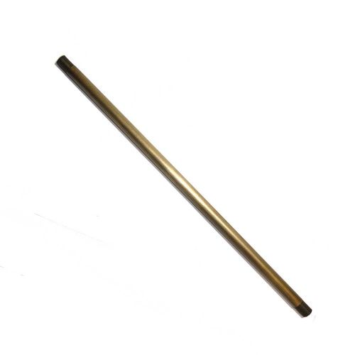 Brushed Finish 305mm Long Solid Brass Drop Rod 10mm Diameter Threaded Ends M10 x 1mm Pitch